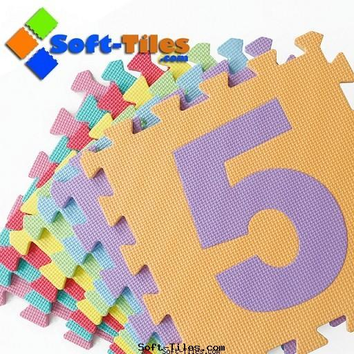 Eco-friendly Number Puzzle Mat with 0-9