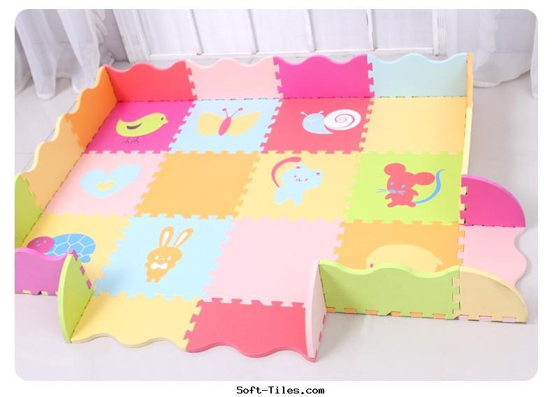 Children play mat with rails Animals Design