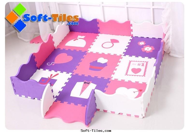 kid's play mat with rails Love Design