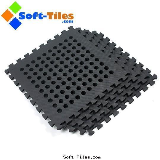 BLACK 60*60cm holes foam eva square interlocking