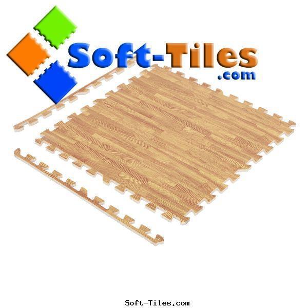 Wood Effecting Foam Floor Mat