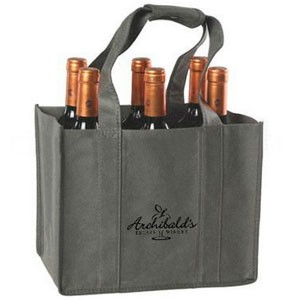 6 Bottles Durable Promotional Wine Bag