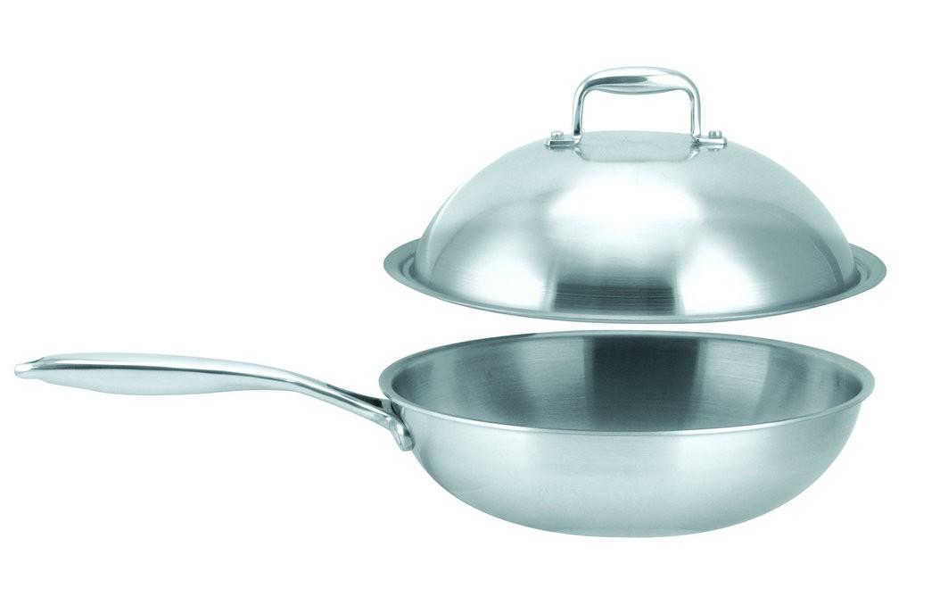 Stainless steel wok---SJ101