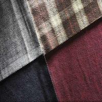 Plaid Wool Overcoating Garment Fabric