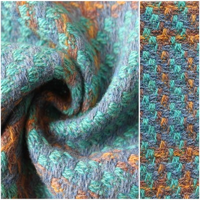 Wool Blended Tweed Fabric For Fall/Winter Overcoat