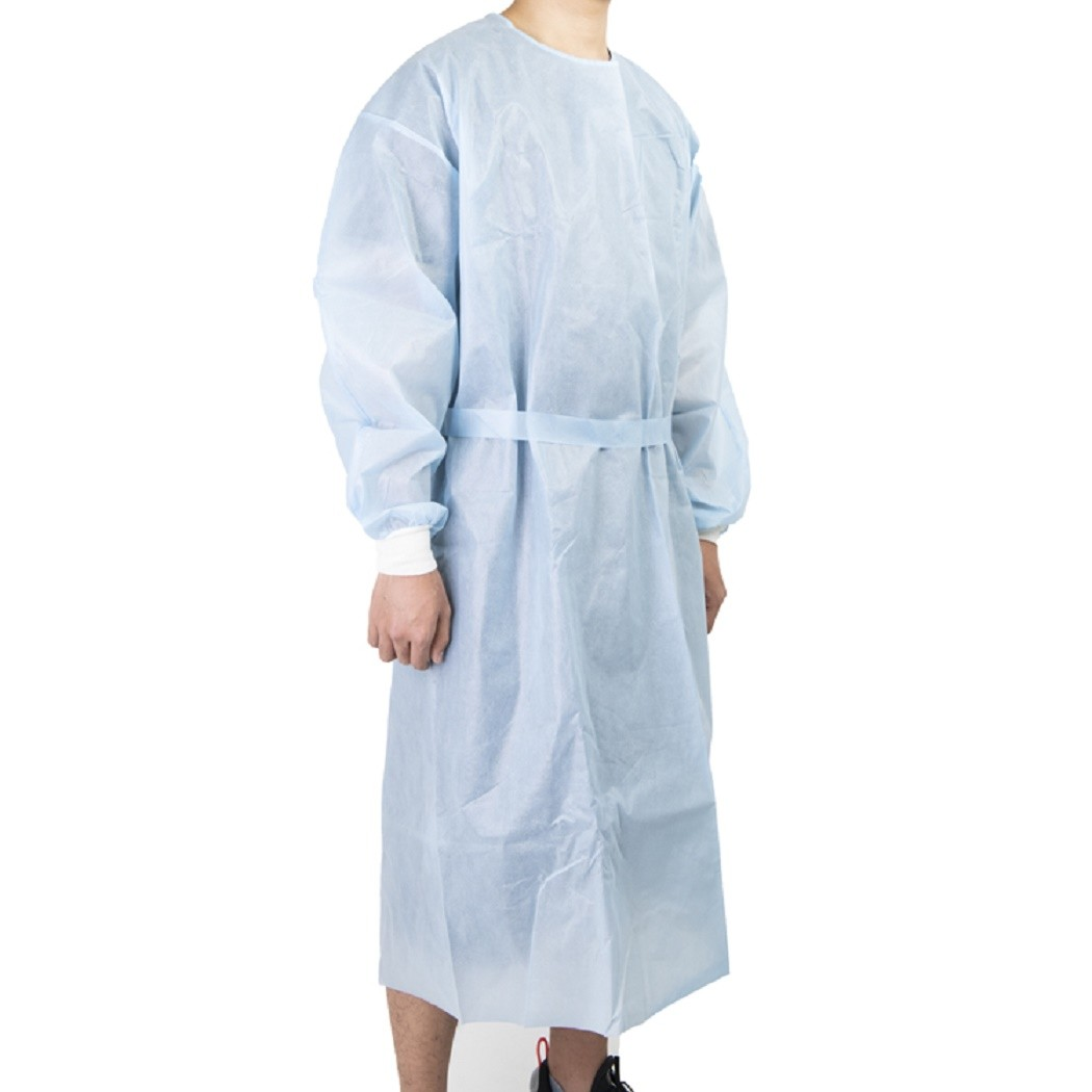 Tingstar blue hospital plastic isolation gowns TX321