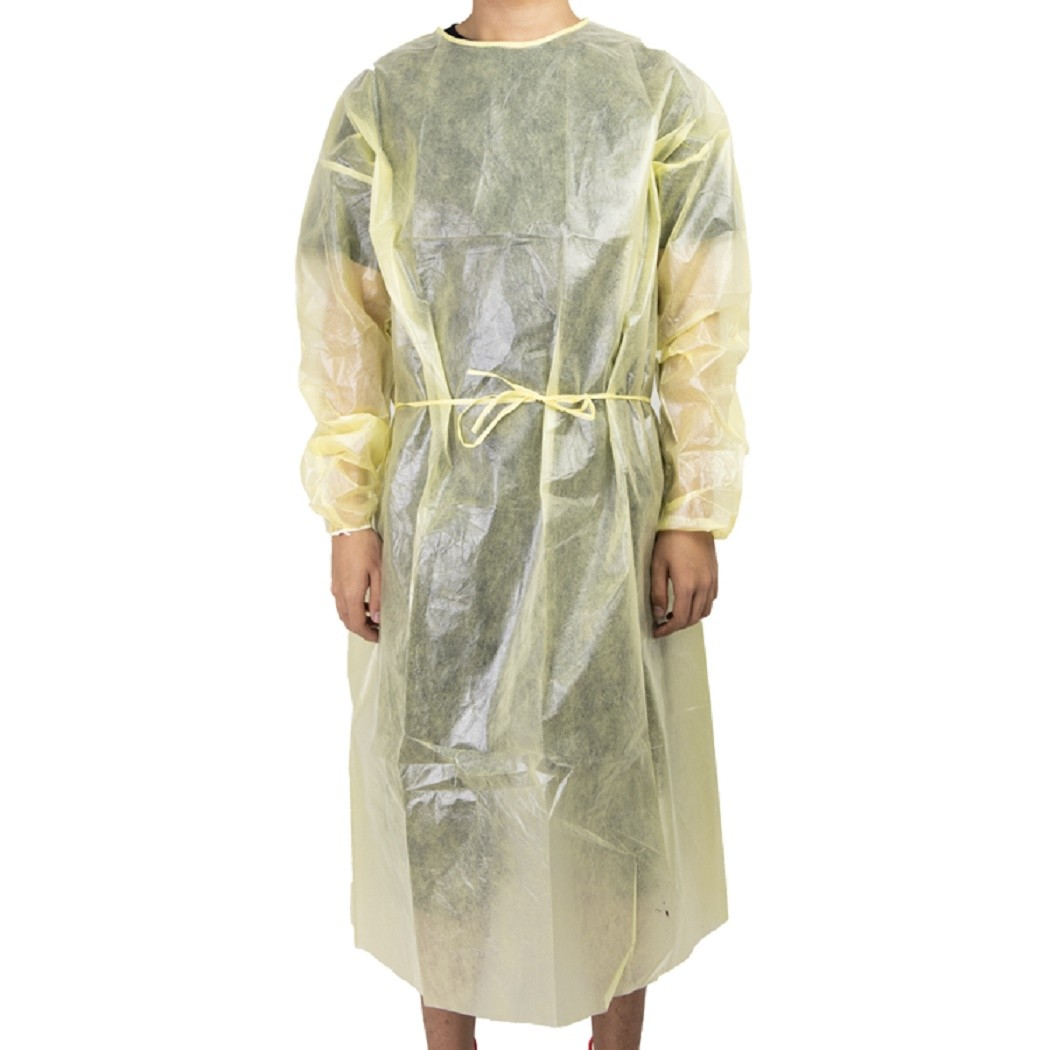 Waterproof PP PP+PE SMS isolation medical surgeon gown