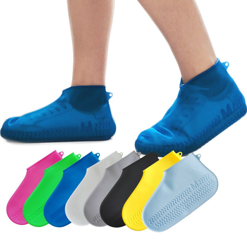 Kids Silicone Rain Shoes Cover Waterproof Overshoe Shoe Cover Rain Boots