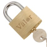 Middle-thick brass padlock