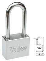 Square vane key long shackle padlock
