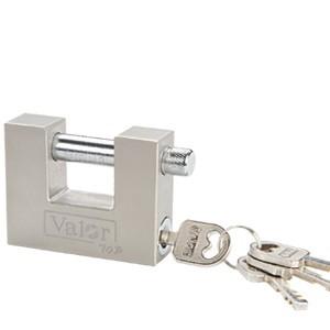 Transverse iron or brass padlock