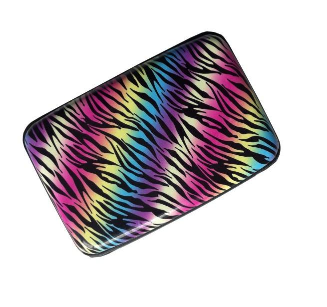 Best Seller Aluminum Card Wallets/New Zebra Design