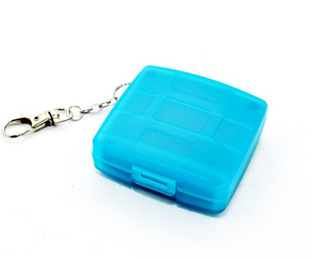 Plastic Security Memory Cards Case/2 CF,4SD