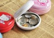 Tinplate Round Coin Case/Coin Purse