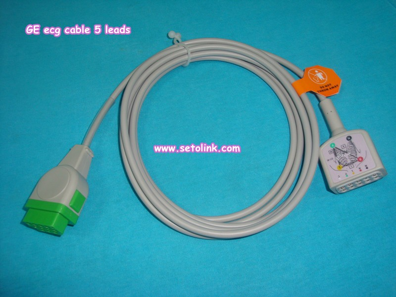 GE marqutte ECG cable 5 Leads