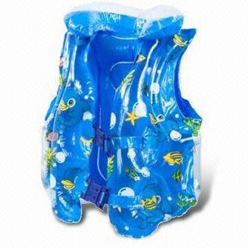 PVC Swimming Vest, OEM Orders are Welcome, Customized Shapes and Logos are Accepted