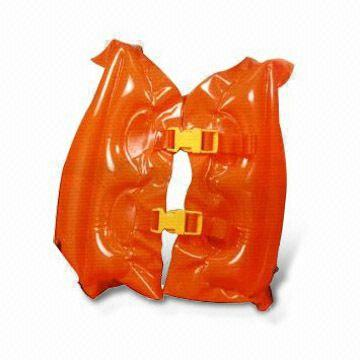 Swimming Vest, Customized Shapes and Logos are Welcome, Made of Non-phthalate PVC