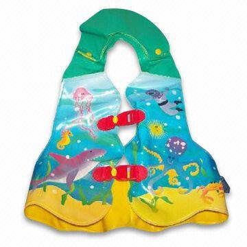 Swimming Vest, Made of PVC, Customized Shapes and Logos are Accepted, OEM Orders are Welcome